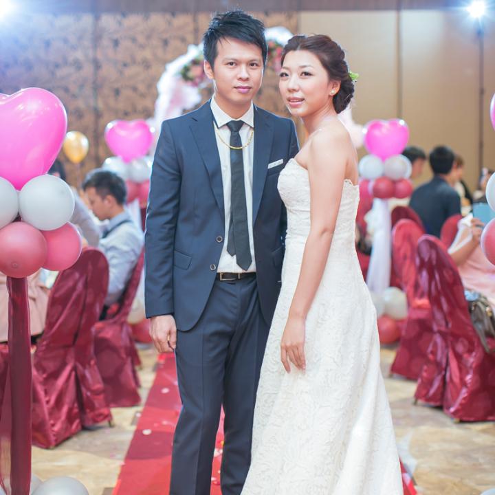 台中聖華宮素菜餐廳婚禮記錄│愉婷+良諺